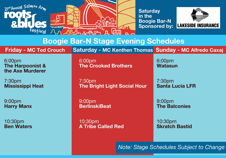 BoogieBarN2013ProgramScheduleV2 2013 Schedules