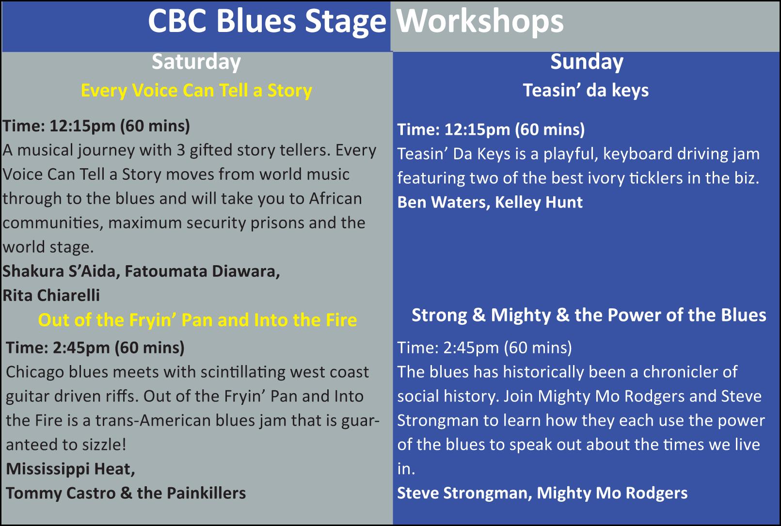 CBC BluesStageWorkshops