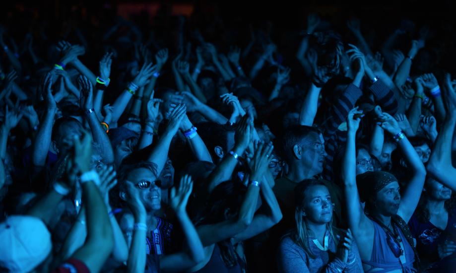 Cool Blue Night Shot of Crowd (2)