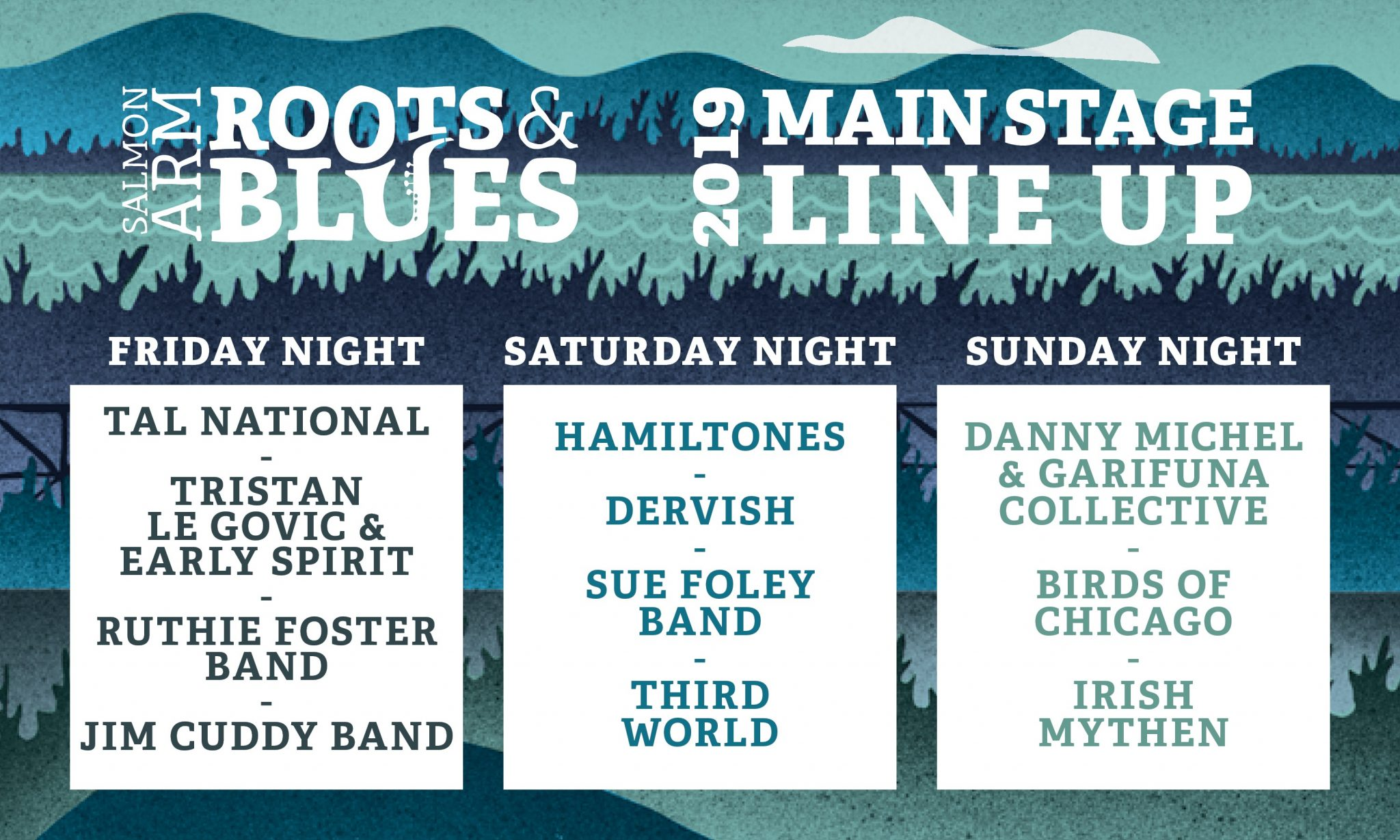 Roots and Blues Festival 2019 Line Up